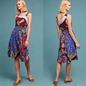Anthropologie scarf floral dress